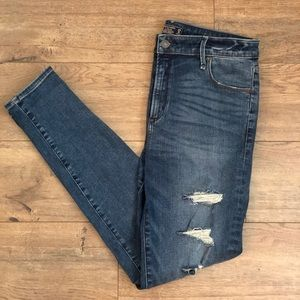 Abercrombie Ripped High Rise Super Skinny Jeans